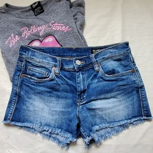 Anthropologie Blank NYC The Astor Cut-off Shorts